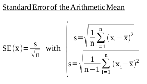 Definition of the Standard Error of the Arithmetic Mean